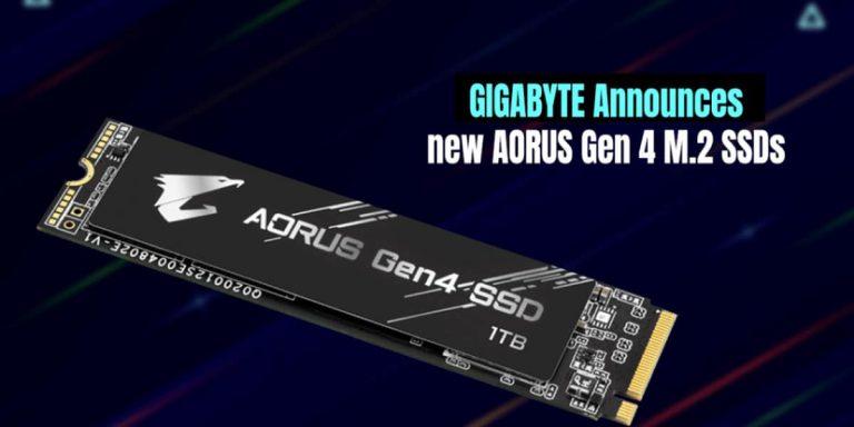 GIGABYTE Announces new AORUS Gen 4 M.2 SSDs 1200x600 1